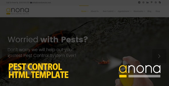 Anona Pest Control HTML Template - Business Corporate