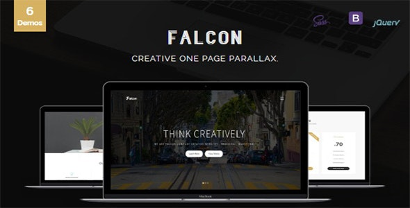 Falcon - Creative One Page Parallax - Creative Site Templates