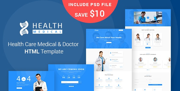 Health Care - Medical & Doctor HTML5 Template - Health & Beauty Retail