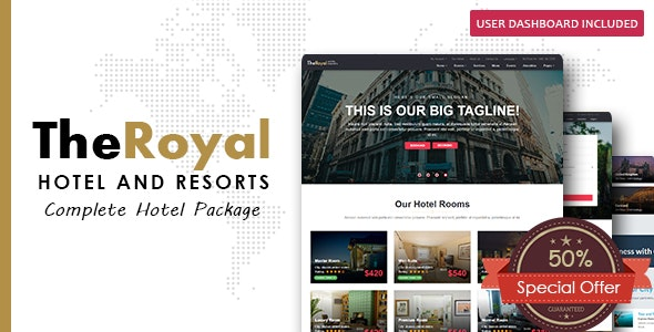 The Royal - Hotel Booking HTML Template - Restaurants & Cafes Entertainment