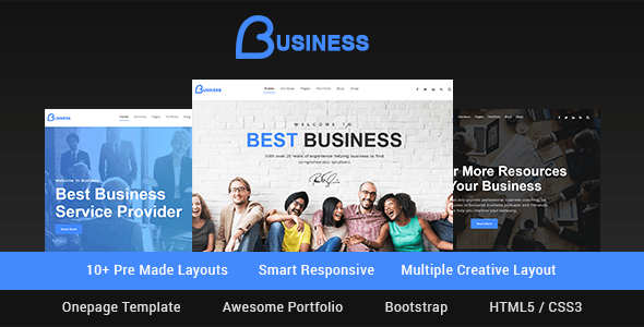 Business - Smart Responsive Multipurpose HTML5 Template - Corporate Site Templates