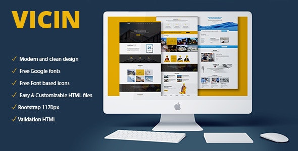 Vicin | Multipurpose Construction & Plumbing HTML Template - Corporate Site Templates