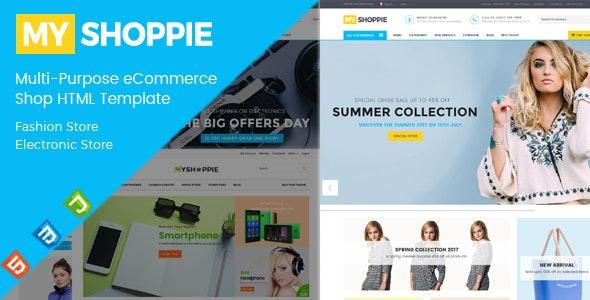 MyShoppie - Fashion & Electronic eCommerce HTML Template - Retail Site Templates