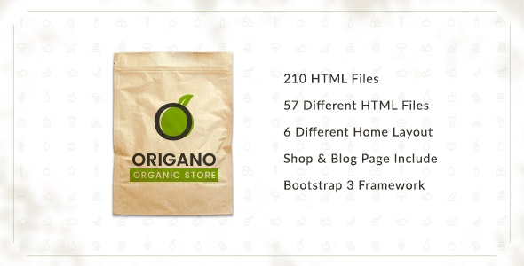 Origano - Organic Store HTML Template - Food Retail