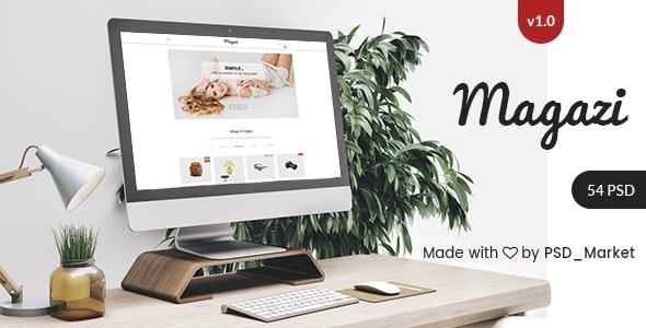 Magazi - Multipurpose e-Commerce PSD Template - Retail Photoshop