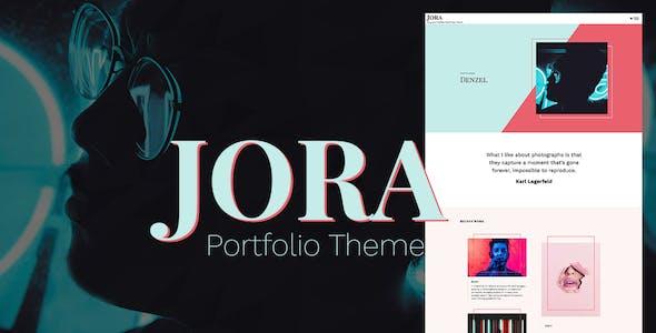 Jora – an Exquisite Portfolio WordPress Theme