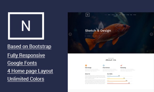 Note - Modern One page HTML5 Template - Site Templates