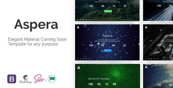 Aspera - Material Coming Soon Template - Under Construction Specialty Pages