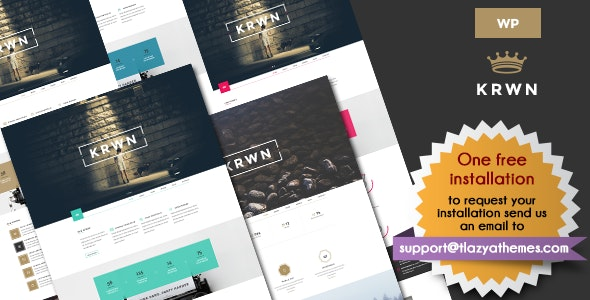 Krwn || Responsive Creative and Business WordPress theme - Business Corporate
