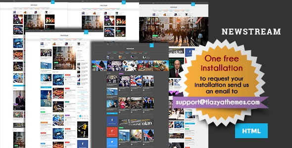 Newstream - Responsive Blog/Magazine HTML template - Site Templates