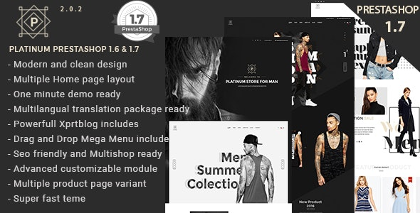 Platinum Fashion and Accessories Prestashop 1.6 and 1.7 Theme - Fashion PrestaShop