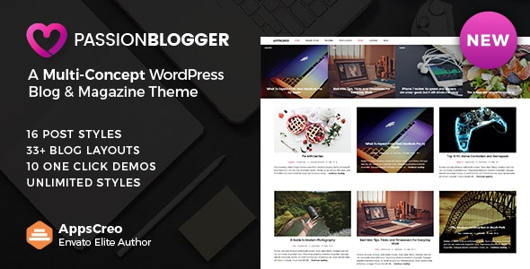 Passion Blogger - A Responsive WordPress Theme - Personal Blog / Magazine