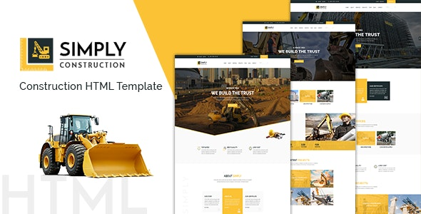 Simply - Construction HTML5 Template - Business Corporate