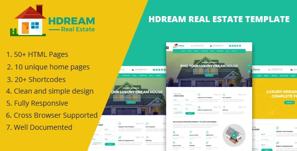 Hdream - Real Estate Responsive Template - Business Corporate