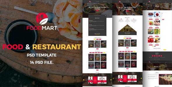 Food Mart-Food & Restaurant Online Ordering eCommerce PSD Template - Food Retail
