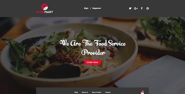 Food Mart-Food & Restaurant Online Ordering eCommerce PSD Template