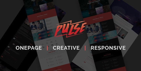 Pulse - Creative One Page HTML Template - Creative Site Templates