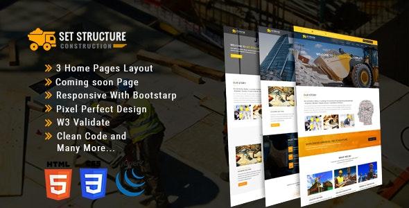 Set Structure - Construction Corporate Business HTML5 Template - Corporate Site Templates