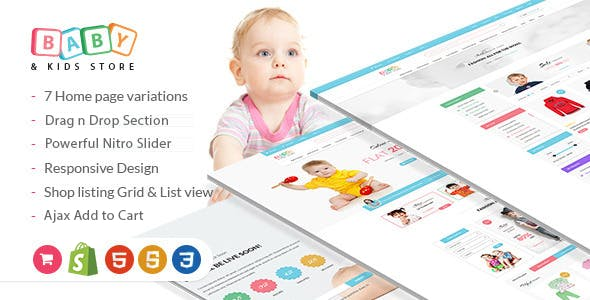 Baby Store - Clean, responsive Shopify themes