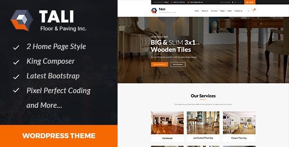 Tali - Paving Service WordPress theme - Business Corporate
