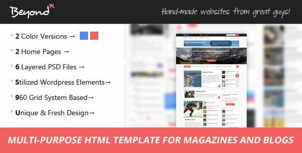 Beyond - Multi-purpose HTML Template - Site Templates