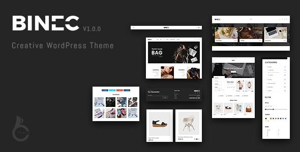 Binec - Creative WordPress WooCommerce Theme - WooCommerce eCommerce