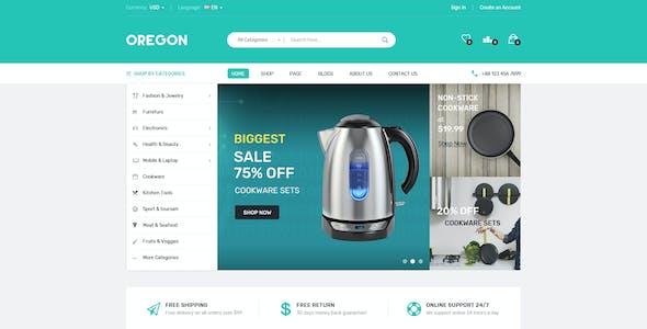 Oregon - Multipurpose Shopify Theme (Sectioned) - Electronics, Digital, Organics, Kitchen, Furniture