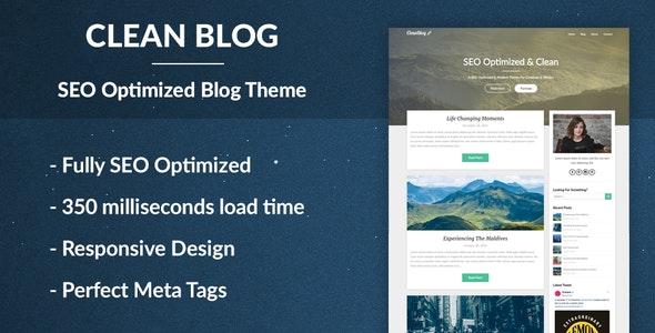 Clean Blog - SEO Optimized WordPress Theme - Blog / Magazine WordPress
