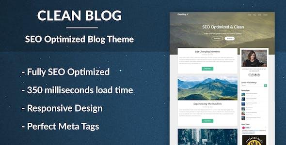 cleanblog seo uyumlu blog wordpress teması