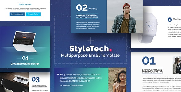 StyleTech - Drag & Drop Email Template + Builder Access - Newsletters Email Templates