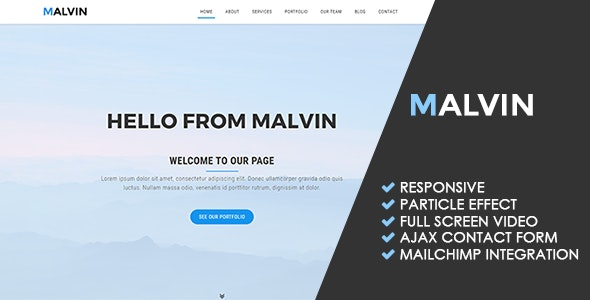 Malvin | Creative Multipurpose Template - Creative Site Templates