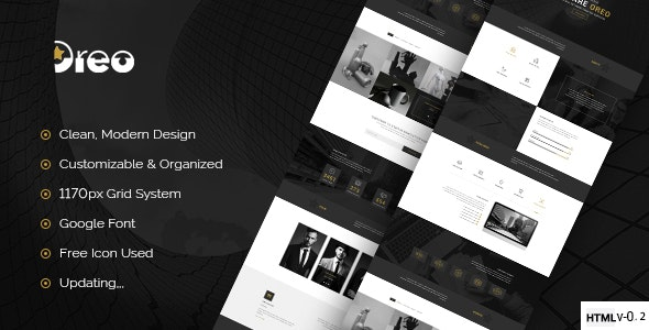Oreo - Ultimate Creative Landing Page - Corporate Site Templates