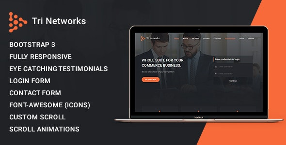 Tri Network - Multipurpose Bootstrap 3 Html Template - Corporate Site Templates