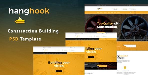 Hanghook - Construction & Building PSD Template - Business Corporate