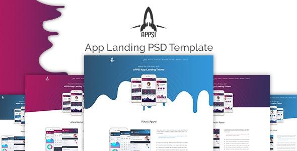 APPSI - App Landing PSD Template - Photoshop UI Templates