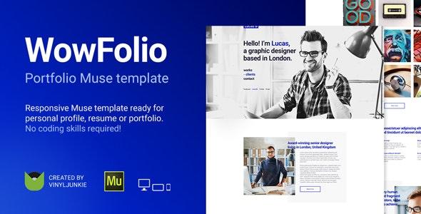 WowFolio - Responsive Portfolio / Resume Muse Template - Personal Muse Templates
