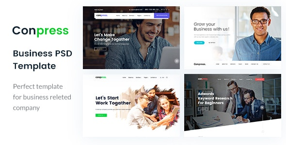 Conpress. Business & Agency PSD Template - Business Corporate