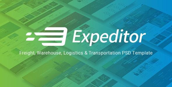 Expeditor - Logistics & Transportation PSD Template - Business Corporate