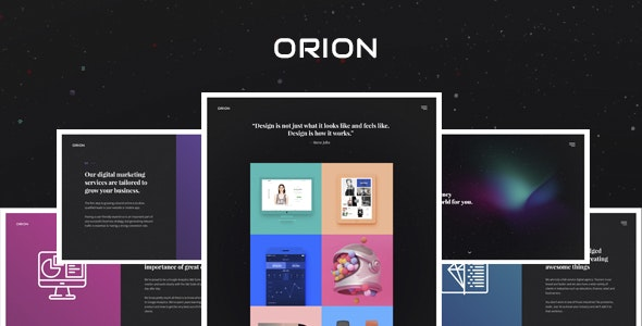 Orion – Digital Agency PSD Template - Portfolio Creative