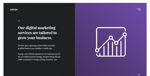 Orion – Digital Agency PSD Template