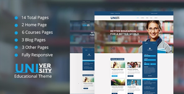 University Educational HTML 5 Template - Creative Site Templates