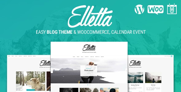 Elletta - Blog News, Calendar & Shop Theme WordPress - Personal Blog / Magazine