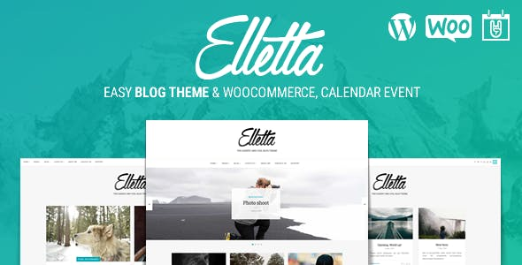 Elletta - Blog News, Calendar & Shop Theme WordPress