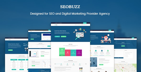 SEObuzz - SEO Analysis and Marketing Service Provider Agency Template - Photoshop UI Templates