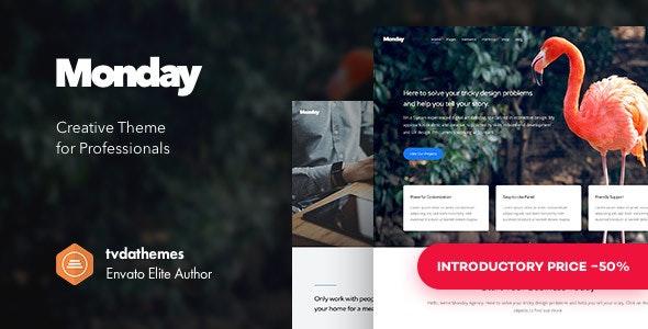 Monday - Creative Multi-Purpose WordPress Theme - Creative WordPress
