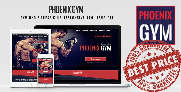 Phoenix Gym - Gym and Fitness Club Responsive HTML Template - Marketing Corporate