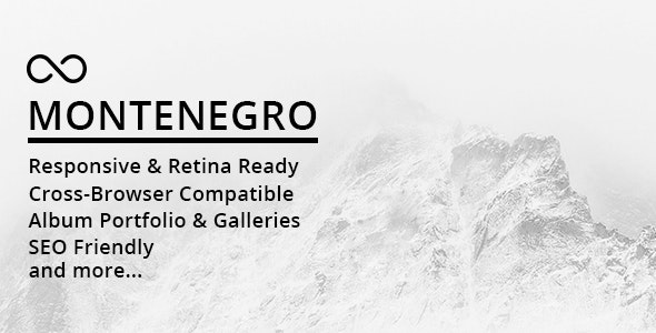 Montenegro Minimal Photography WordPress Theme - Photography Creative