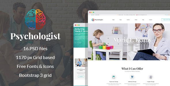 Psychologist - Therapy and Counseling PSD Template - Health & Beauty Retail