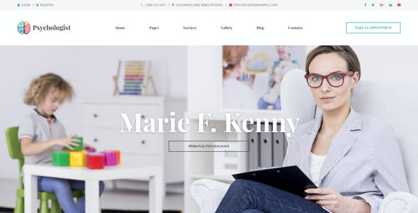 Psychologist - Therapy and Counseling PSD Template