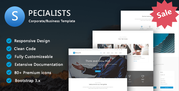 Specialists - Corporate/Business Template - Business Corporate